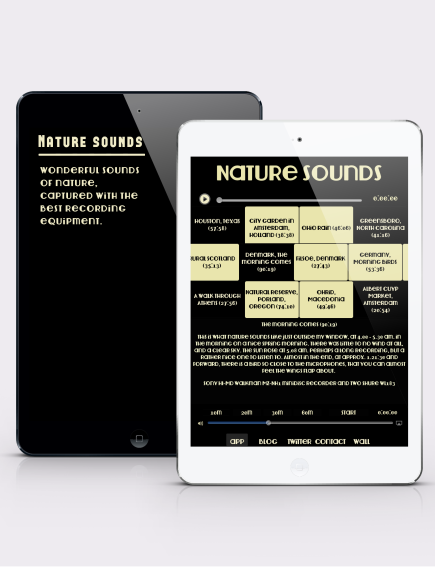 Nature Sounds for iPhone and iPad.